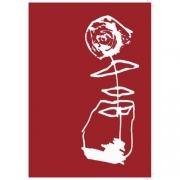 Ruusu mummulle punainen 2 os. Keihan Ajdari